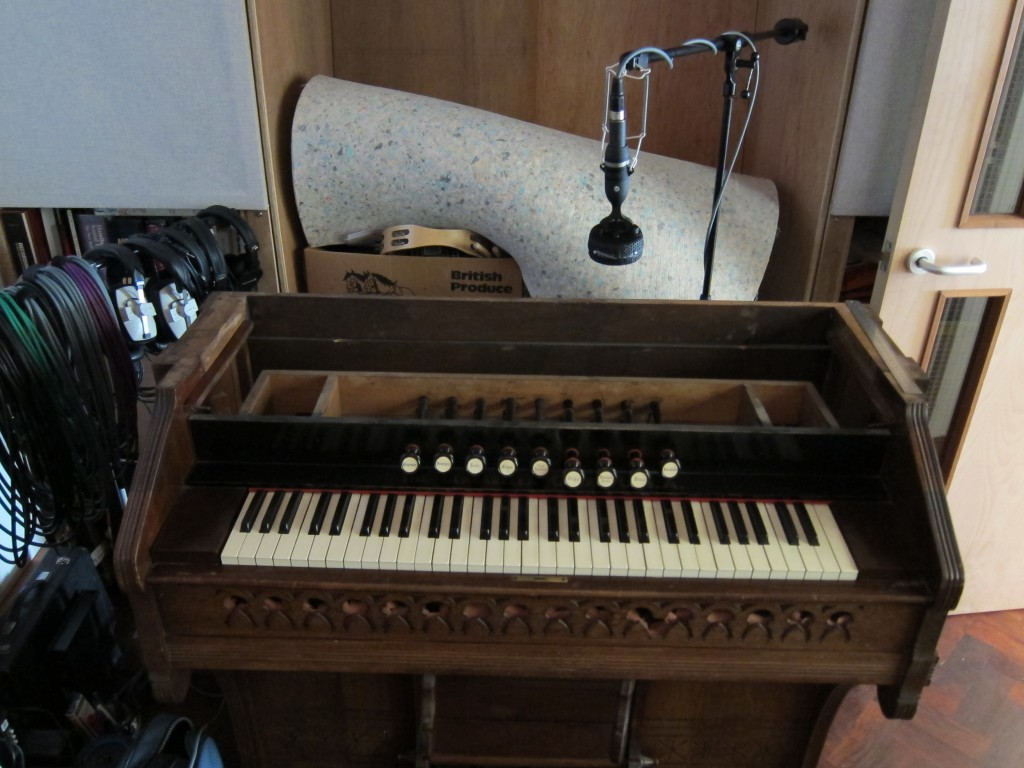 Church harmonium mic'ed by a single Coles 4038