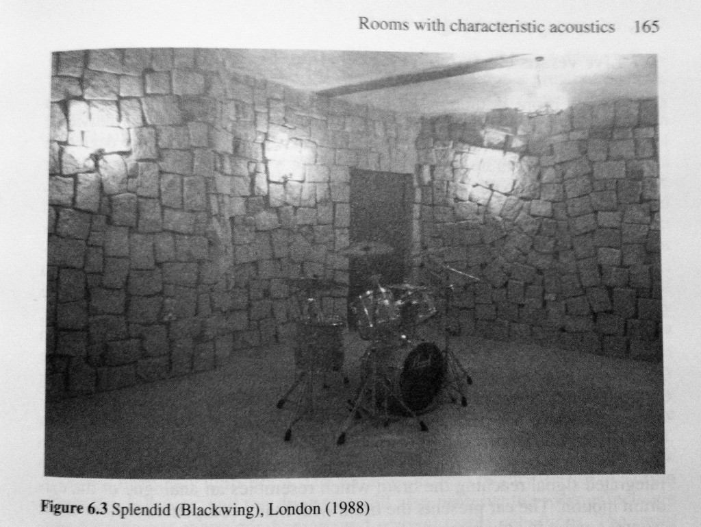 Blackwing studio stone room, where Loz was holed up for the Nowhere sessions (photo from Recording Studio Design by Philip Newell) Blackwing studio stone room, where Loz was holed up for the Nowhere sessions (photo from Recording Studio Design by Philip Newell)